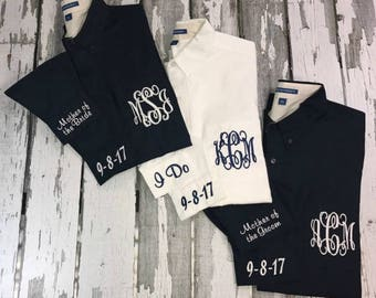 Monogram Button Down, Monogrammed Bride-Bridesmaids Shirts, Getting Ready Shirts, Oversized Monogrammed Button Down Shirts, Personalized