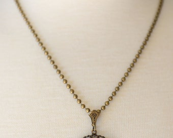 Compass Necklace, Nautical Necklace, Wanderlust, Traveler, Follow Your Heart Necklace, Graduation Gift, Antiqued Brass Compass Jewelry,SRAJD