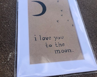 Custom - I love you to the moon with zodiac constellation - 4x6 (pictured with cancer constellation)