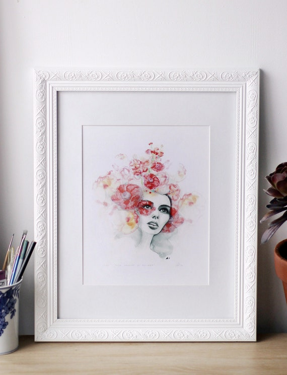 SALE! She Dreamt Of Flowers - A4 Print