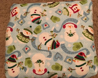 Snowman Rice Bag/ Microwave Heating Pad / Cold Pack