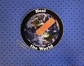Heal the World Bumper Sticker