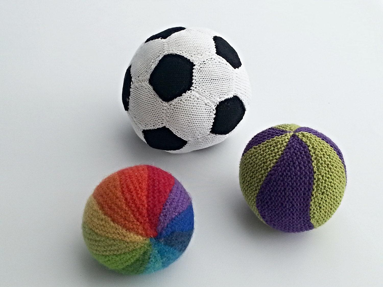 KNITTING PATTERN, Knitted Balls, Rainbow Ball, Soccer Ball, Marble ...