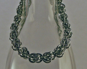 Chainmaille Bracelet in Bright Aluminum Light Weight