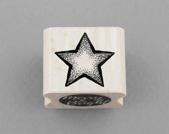 Rubber Stamp Star 2 x 2 cm
