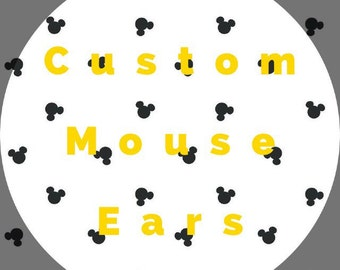 Custom Minnie Mouse Ears