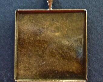 27 bracket square metal bronze 25 mm