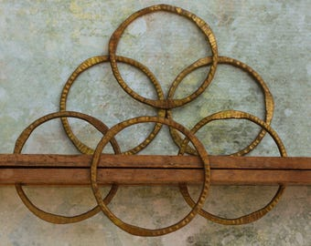 "2"" Brass Circle Rings Frame Embellishments Circles"