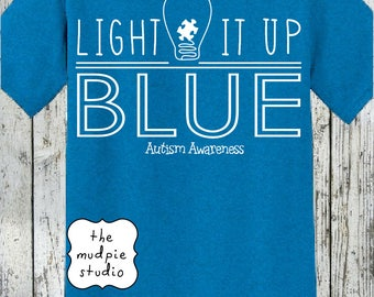 Autism Awareness Light It Up Blue T-Shirt - Youth or Adult
