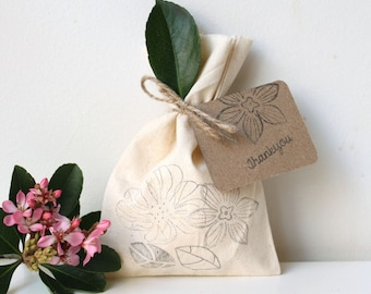 FLORAL/ vintage floral Party Favour Bags - floral, flower treat bag, woodland theme, Woodland treat bag, floral favour bag x 10