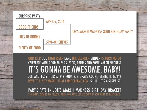 Items similar to march madness birthday party invitation basketball items similar to march madness birthday party invitation basketball on etsy reheart Choice Image