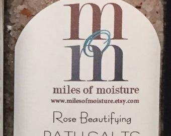 Rose Beautifying Bath Salts    All Natural Bath Salts, Dead Sea Salts, Pink Himalayan