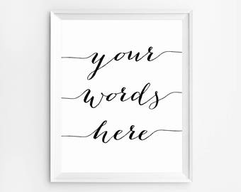 Custom Poster, Personalized Poster, Customized, Custom Poster Print, Custom Print, Custom Typography, Custom Quote Print, Christmas gift for