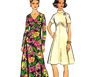 Ausgestelltes Kleid Muster Einfachheit 5850 Maxi-Kleid oder Knie Länge Womens Büste 44 Plus Schnittmuster
