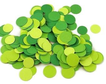 Funfetti Paper Party  Confetti  Dots in  Fresh Greens Mix