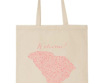South Carolina Floral Wedding Tote Bag