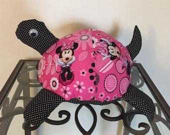 Minnie Mouse Handmade Stuffed Turtle