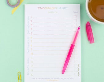 To Do List Note Pad For Today – To Do List Notepad – Things To Do – List Pad - Organiser – Planner pad – Eco Friendly Stationery