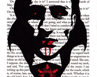 The Count, Printed Illustration on Page from 'Dracula'