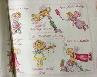 HOUSEWORK FAIRIES - Cross Stitch Pattern Only