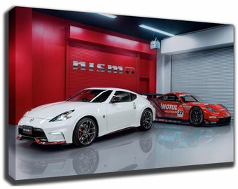 NISSAN 370Z NISMO Canvas/Poster Wall Art Pin Up HD Gallery Wrap Room Decor Home Decor Wall Decor