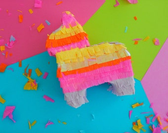 Mini Pinata 6 inches, Mexican Fiesta Favors, Donkey Pinata Favors, Fiesta Bridal, Fiesta first Birthday,Fiesta Cake Topper