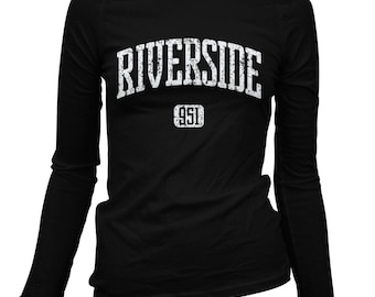 Women's Riverside 951 Long Sleeve Tee - S M L XL 2x - Ladies' Riverside T-shirt, California, Inland Empire - 3 Colors