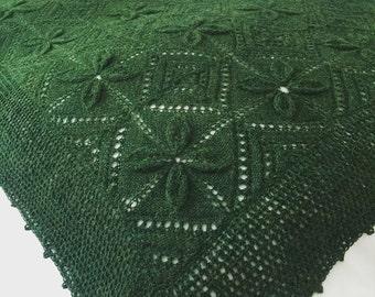 Alpaca blanket/ Alpaca wool Shawl/ Hand knitted blanket/ baby blanket