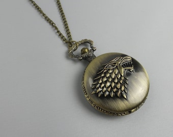"""Necklace with Watch """"the Throne"""""""
