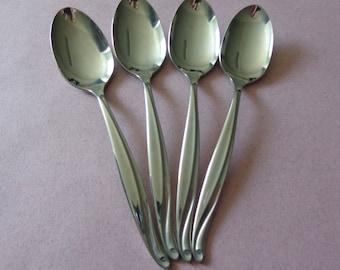 1881 Rogers 4 Surf Maid - Corbana Teaspoons, Stainless Flatware Oneida spoons