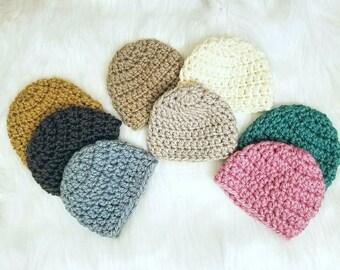 RTS Baby crochet beanies set