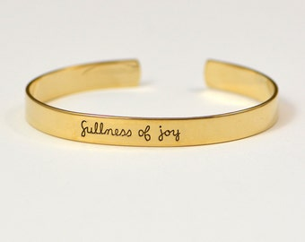 bible verse bracelet | psalm 16 | christian jewelry | encouraging gift | inspirational | scripture | fullness of joy | message band | quote