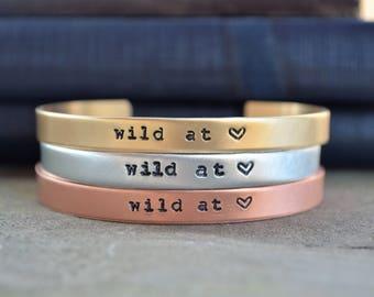 Gifts for Travelers - Adventure - Wanderlust Bracelet - Looks Like Silver - Hand Stamped  - Under 20