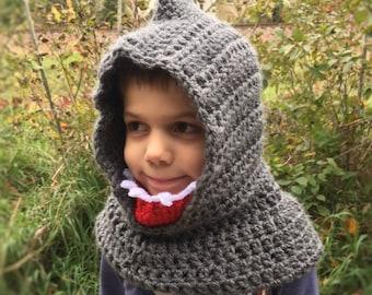 Kids Shark Hood Animal Hat