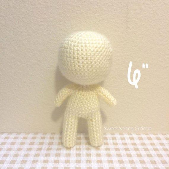 6 Base de muñeca Chibi Amigurumi Crochet patrón
