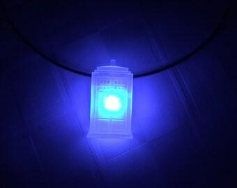 Tardis LED Necklace