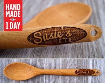 Personalised Wooden Spoon, Engraved Wooden Spoon, Personalized Spoon, Wooden Spoon, Gift for Her, Baking Gift, Cooking Gift, Engraved Spoon