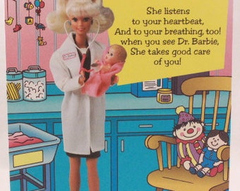 Career Barbie Sticker Book with Stickers and Envelope