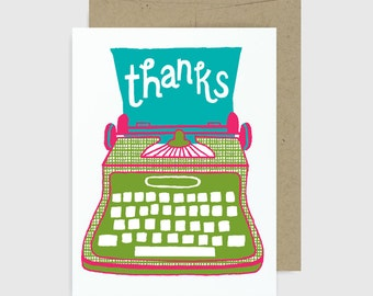Thank You Card - Thanks Typewriter