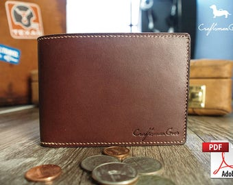 Leather Wallet Pattern (PDF Files): Bifold Wallet (with how to guide)
