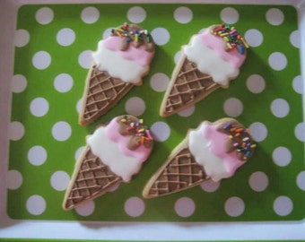Ice Cream Cone cookie favors