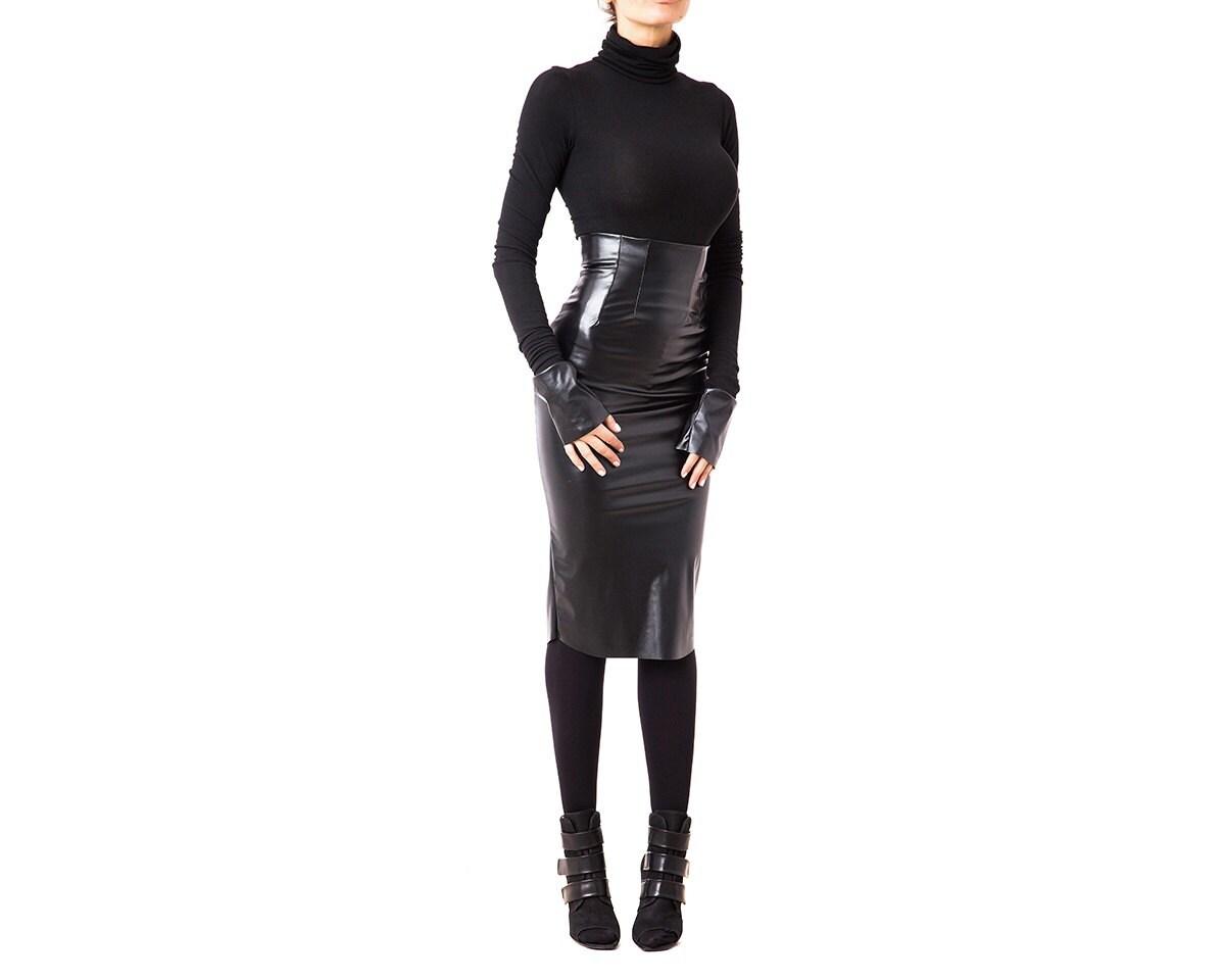 Leather skirt bdsm