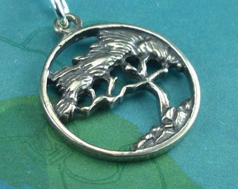 Bonsai Jewelry Tree Necklace Sterling Silver
