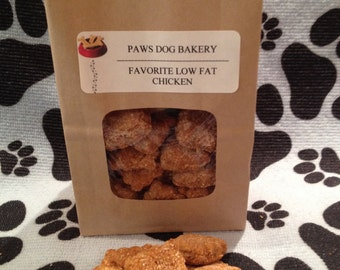 Low Fat Chicken Dog Treats - 100% All Natural, Healthy and No Preservatives.