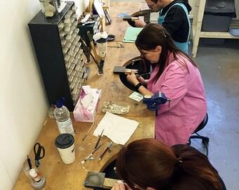 6 week jewellery course - Beginner's learn to make silver jewellery - Sheffield classes