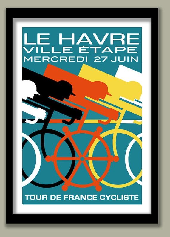 Art d co v lo affiche vintage 1920 tour de france a2 grande - Deco tour de france ...