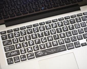 MacBook Keyborad protecteur clavier Macbook clavier Sticker peau Decal Macbook Pro Macbook Air apple clavier sans fil xiaoheiban