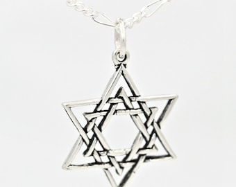 Star of David Sterling Silver Religious Judaism Charm Pendant Customize no. 2222