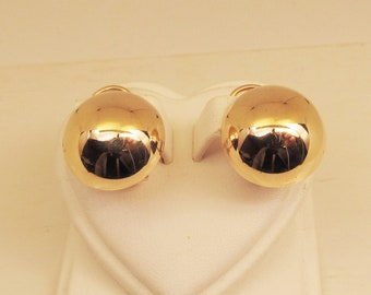 Dome Earrings 14Kt Gold