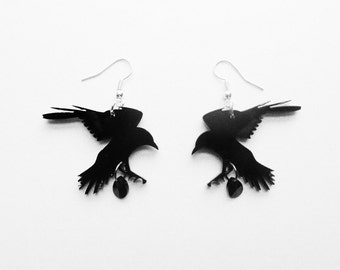 Dark romance - Crow earrings